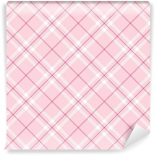 Vinylová Fototapeta Light Pink Plaid