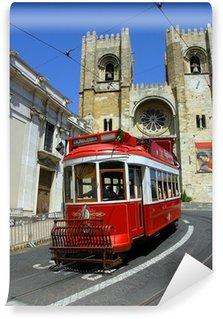 Vinylová Fototapeta Lisabon červená tramvaj