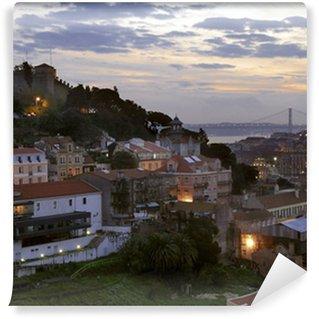 Vinylová Fototapeta Lisabon za soumraku