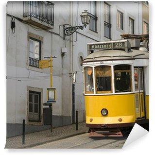 Vinylová Fototapeta Lisabon žlutá tramvaj