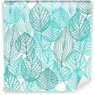 Vinylová Fototapeta Listí zelené listí bezproblémové vzor