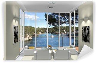 Fototapeta Vinylowa Living room 3d rendering wykusz