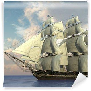 Vinylová Fototapeta Loď v oceánu