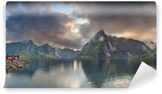 Vinylová Fototapeta Lofoten ostrovy Panorama.