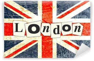 Vinylová Fototapeta LONDON Anglická vlajka