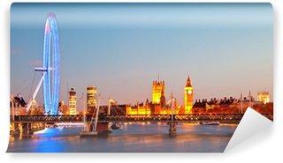 Vinylová Fototapeta London Eye Panorama