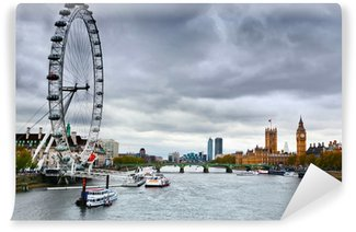 Vinylová Fototapeta Londýn, Anglie panorama UK. Big Ben River Thames