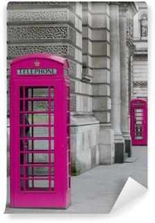 Fototapeta Winylowa Londyn budki telefoniczne