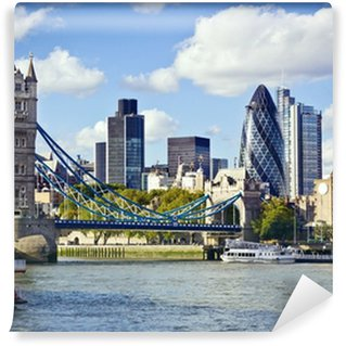 Vinylová Fototapeta Londýn panorama vidět z řeky Temže