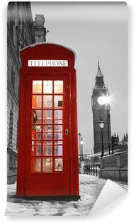 Vinylová Fototapeta Londýn Telefonní budka a Big Ben