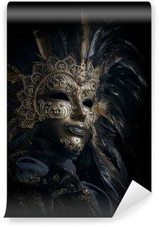 Vinylová Fototapeta Luxusní benátské masky na černém