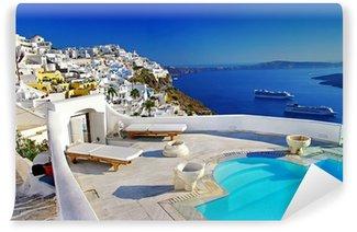 Vinylová Fototapeta Luxusní dovolená - Santorini