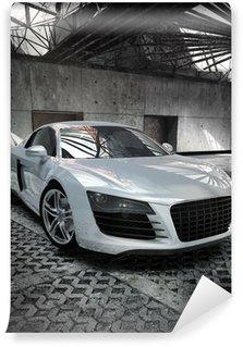 Vinylová Fototapeta Luxusní sportovní vůz krytý 3d ilustrace