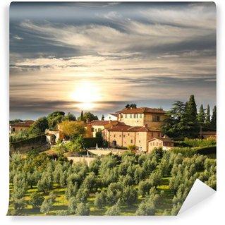 Vinylová Fototapeta Luxusní vila v Toskánsku, slavné vinice v Itálii