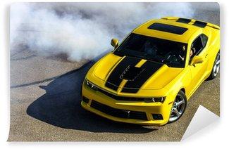 Vinylová Fototapeta Luxusní žlutý sportovní vůz