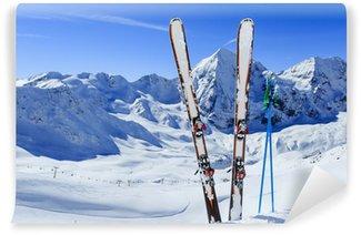 Vinylová Fototapeta Lyžařské, zimní sport - běh na lyžích v italských Alpách