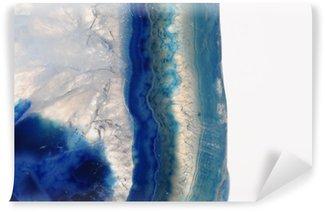 Vinylová Fototapeta Makro modrého kamene achátu
