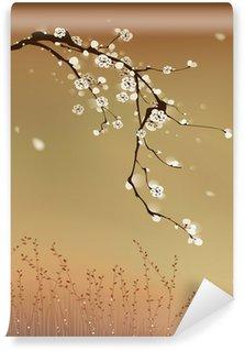 Fototapeta Winylowa Malarstwo orientalne stylu, Śliwa