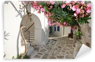 Vinylová Fototapeta Malé backstreet na Amorgos island, Řecko