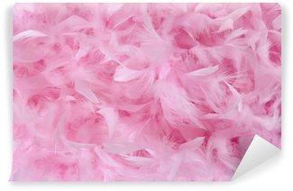Vinylová Fototapeta Malé růžové peří v hromadu   textur
