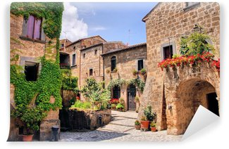 Vinylová Fototapeta Malebného zákoutí malebné kopce města v Itálii