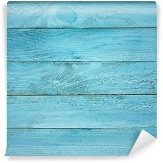 Vinylová Fototapeta Malované modré dřevěné prkna textury