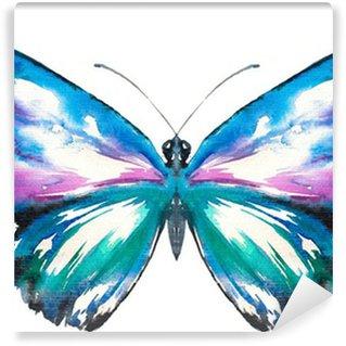 Fototapeta Vinylowa Malowane motyl akwarela.