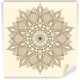 Vinylová Fototapeta Mandala. Krásná ručně tažené květina.