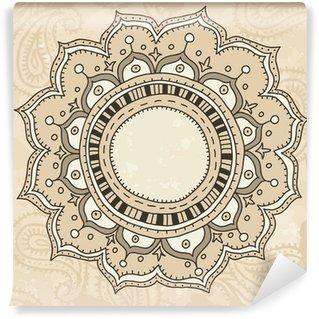Vinylová Fototapeta Mandala na vinobraní pozadí