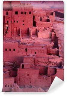 Vinylová Fototapeta Mandloň a Ait Benhaddou Ksar Kasbah, Maroko, Afrika, BeFo