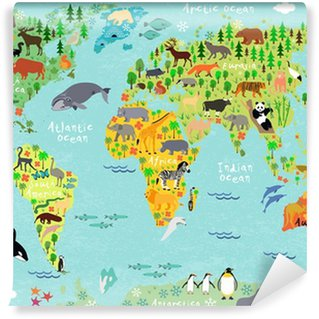 Vinylová Fototapeta Map world