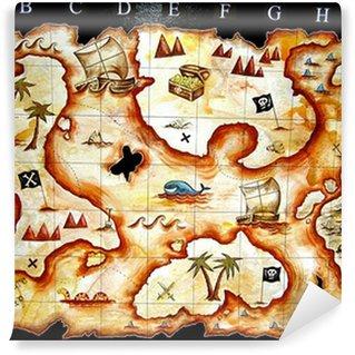 Vinylová Fototapeta Mapa pokladu hra