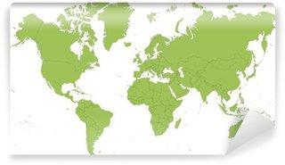 Vinylová Fototapeta Mapa světa