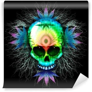 Vinylová Fototapeta Marihuana Psychedelic Skull