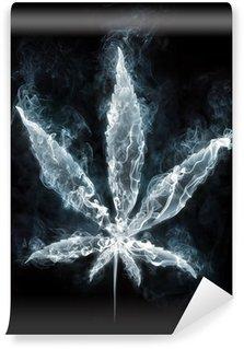 Fototapeta Winylowa Marihuana w dym