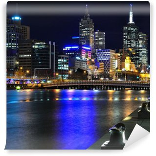 Vinylová Fototapeta Melbourne my Skyline und Yarra River