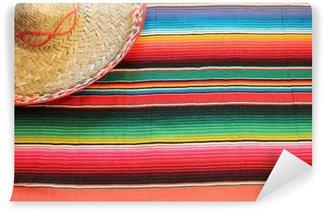 Vinylová Fototapeta Mexické fiesta pončo koberec barvy s sombrero