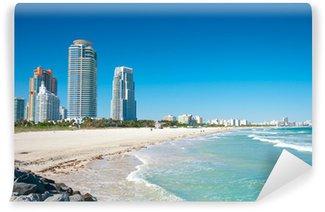 Vinylová Fototapeta Miami Beach na Floridě s luxusními byty a vodních cest