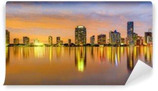 Vinylová Fototapeta Miami, Florida Biscayne Bay Skyline Panorama