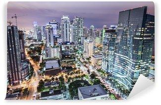 Vinylová Fototapeta Miami, Florida, USA Downtown letecký pohled