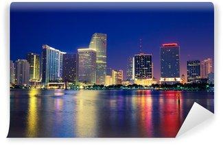 Vinylová Fototapeta Miami Skyline.