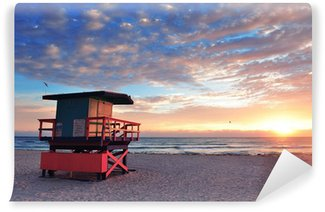 Vinylová Fototapeta Miami South Beach sunrise