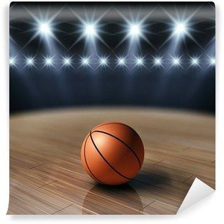 Vinylová Fototapeta Míč na basketbal, basketbalové aréně