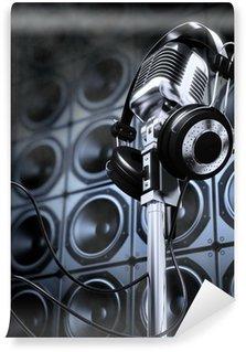 Vinylová Fototapeta Mikrofon a sluchátka