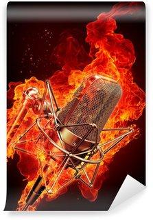 Vinylová Fototapeta Mikrofon je v plamenech