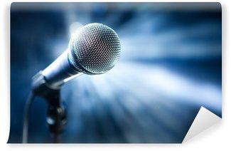Vinylová Fototapeta Mikrofon na jevišti