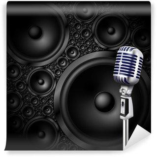 Vinylová Fototapeta Mikrofon / reproduktor