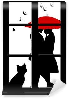 Fototapeta Winylowa MIŁOŚĆ w oknie