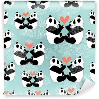 Vinylová Fototapeta Milovníci textury panda