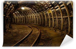 Vinylová Fototapeta Mine podzemní chodba